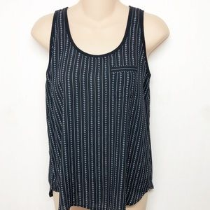 Loft Black and White Sleeveless Top Tank